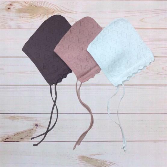 Melina & Me - Knit Bonnet (Pointelle)