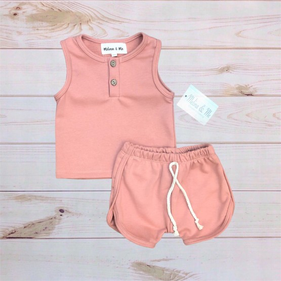 Melina & Me - Cotton Short Outfit (Pink)