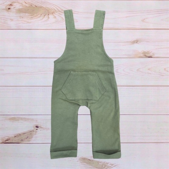 Melina & Me - Cotton Overalls (Olive)