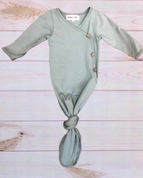 Kimono Baby Gown (Spruce)