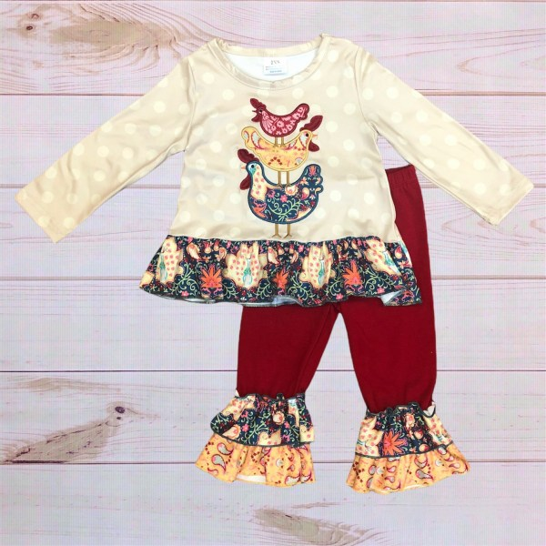 Paisley Chicken Outfit