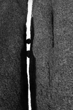 Joshua Tree Crack with Rocks