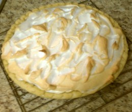 My beautiful chocolate meringue pie ... that tasted terrible (because I used an artifical sweetner).