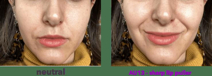 AU13 - tirador de labios afilados - levator anguli oris