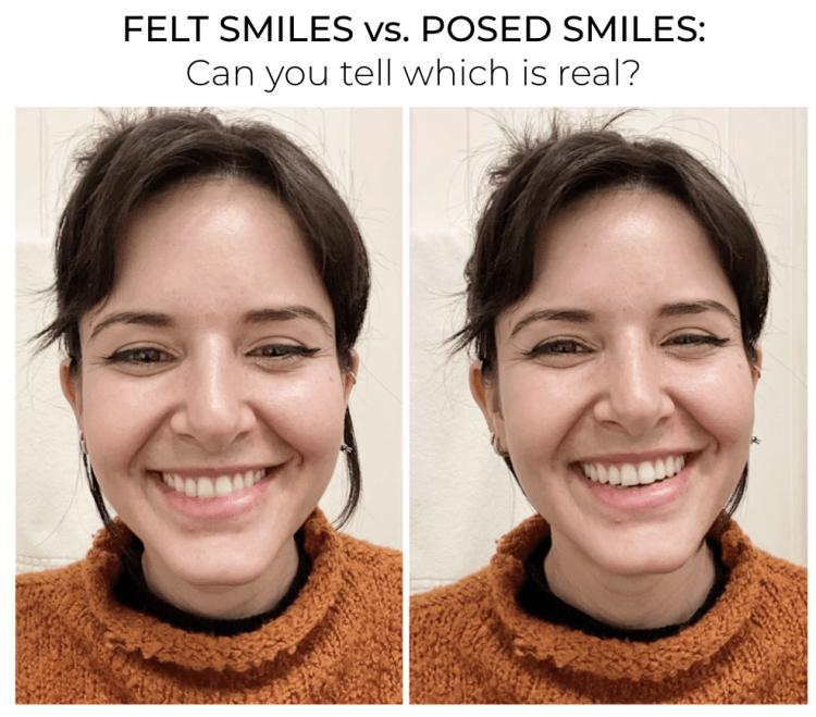 felt and unfelt smile poll - authentic - genuine - inauthentic