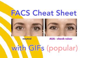 FACS cheat sheet - Facial Action Coding System - FACS AUs - action units