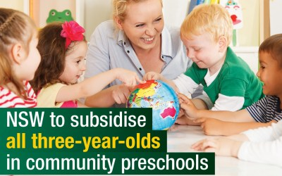 First Cohort Of Subsidized Three-Year-Olds Attending Preschool