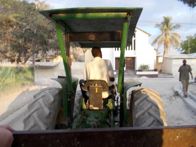 Tractor in Haiti