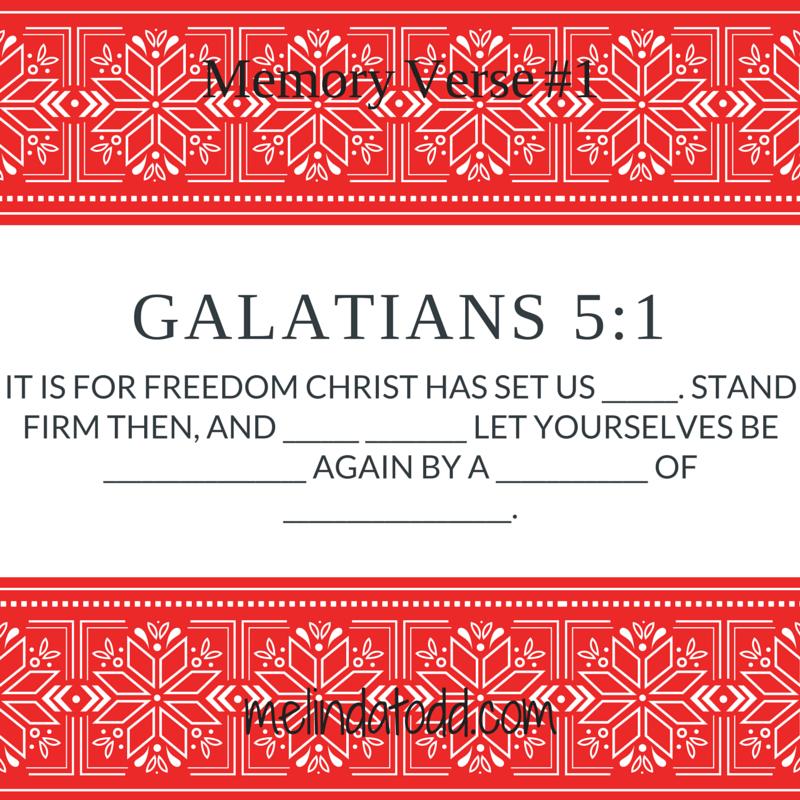 Galatians 5:1 memory verse 1day3
