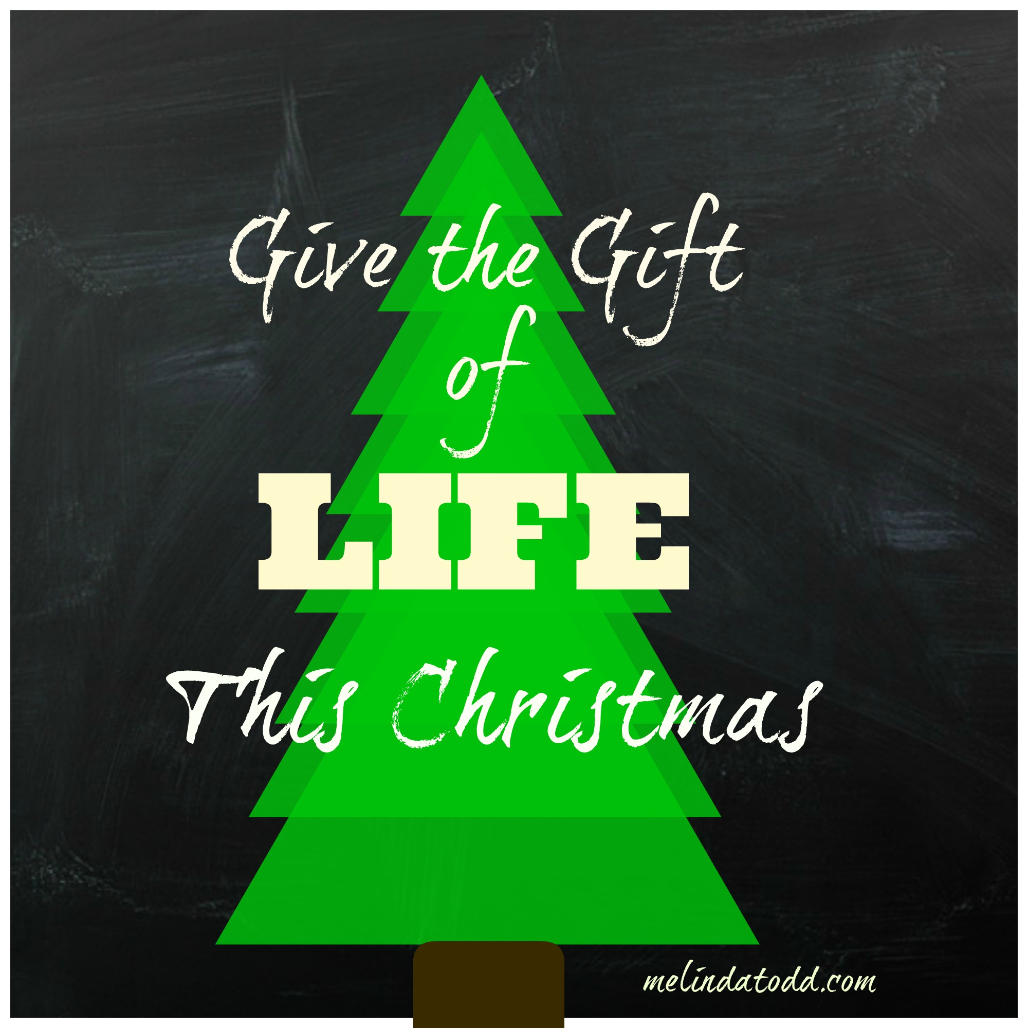 Giving life this christmas for Generous living