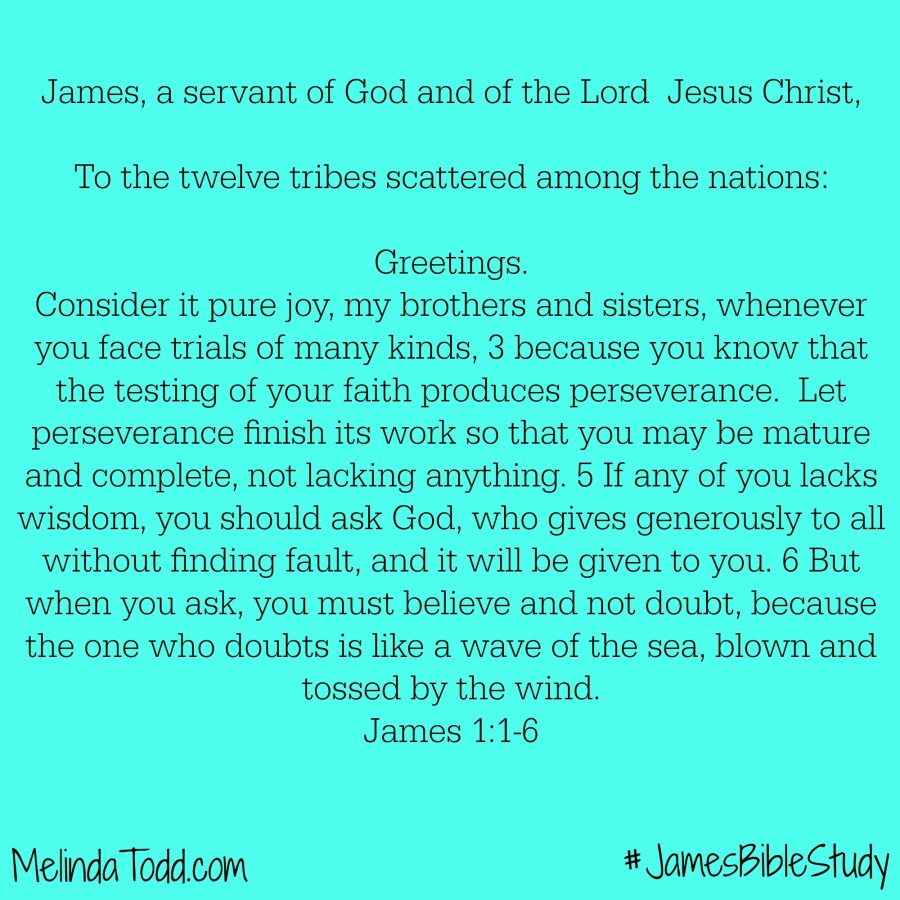 James Memory Verses 1:1-6