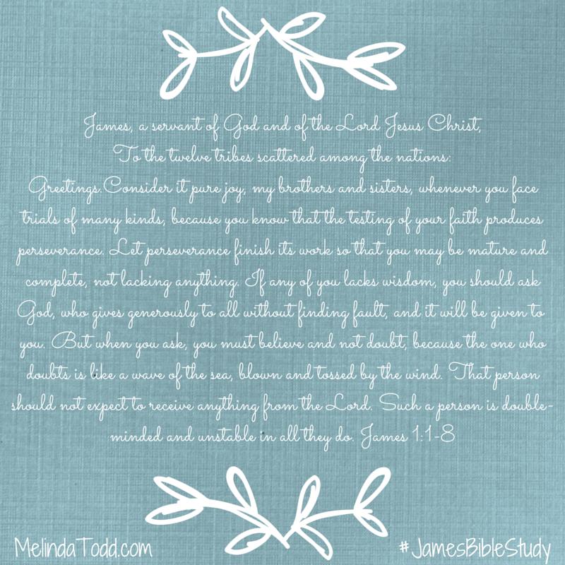 James 1:1-8 James Bible Study