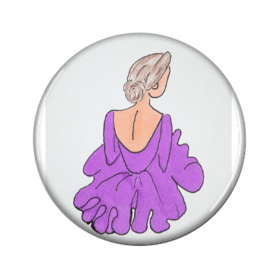 Ballerina in Purple Magnetic Jewelry