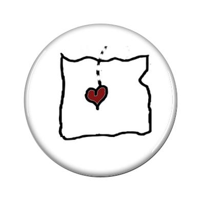 Oregon has my heart jewelry insert by Melinda Todd