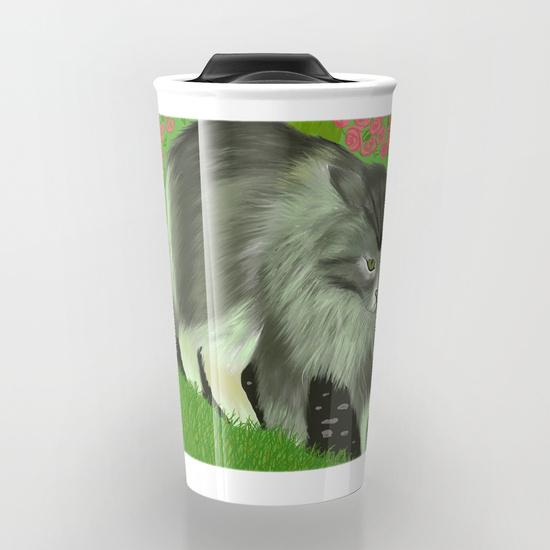Cat In The Garden Travel Mug