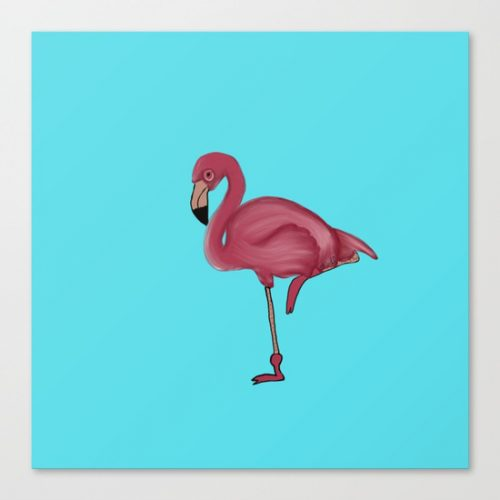 flamingo canvas