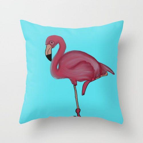 Flamingo Pillow by Melinda Todd