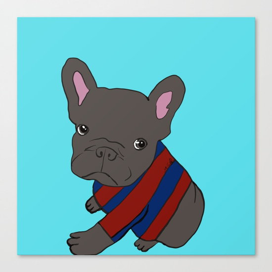French Bull Dog Puppy Canvas Print