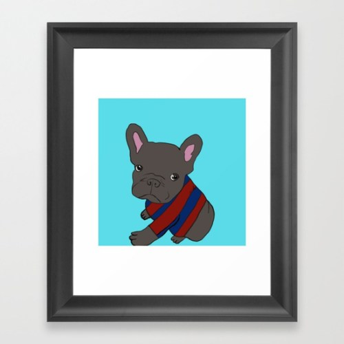 French Bull Dog Puppy Framed Print