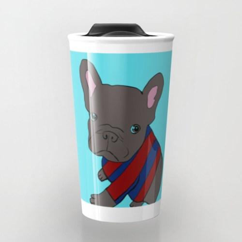 French Bull Dog Puppy Travel Mug