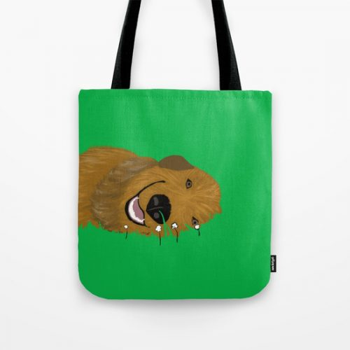 Golden Doodle or Retriever Tote Bag by Melinda Todd