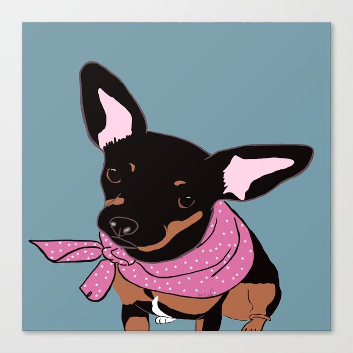 Sweet Chihuahua Canvas Print