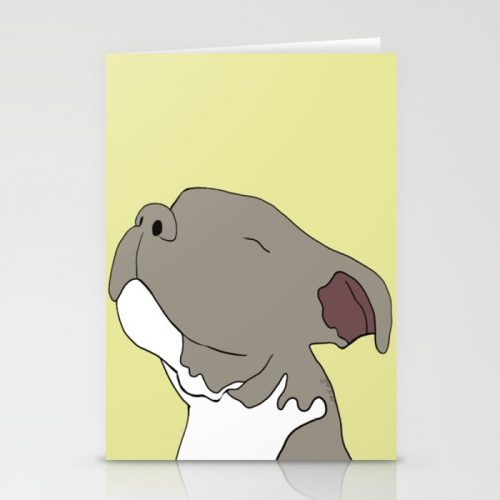 Sunny The Pitbull Puppy Greeting Cards