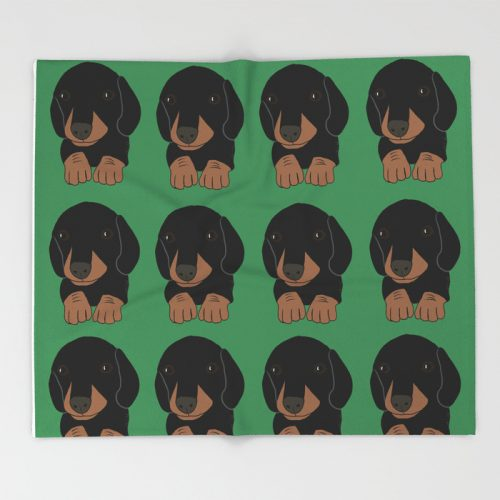 Dachshund Puppies Galore Throw Blanket