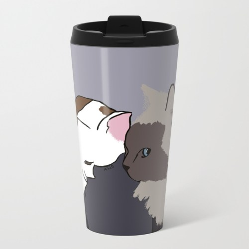 A Pit Bull and Her Kitty Travel Mug