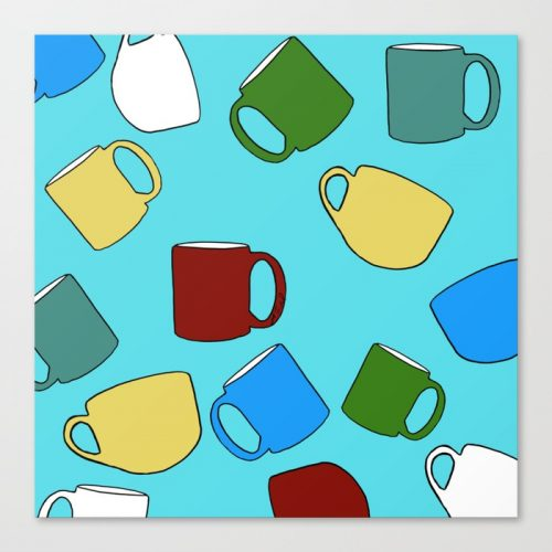 Coffee Mugs Canvas Print