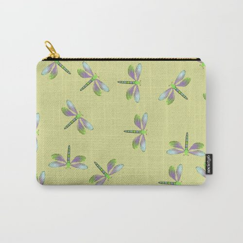 Dragonfly Frenzy Carry All Pouch