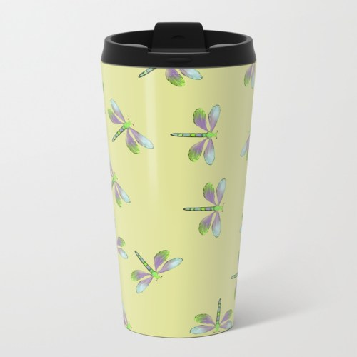 Dragonfly Frenzy Travel Mug