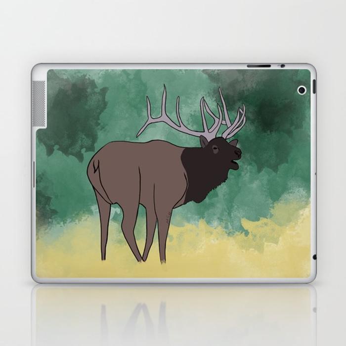 Bull Elk Bugling Laptop Skin