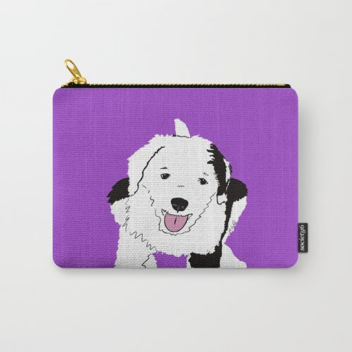 Gypsy the Sheepadoodle Carry All Pouch