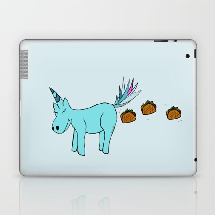 Unicorn Pooping Tacos Laptop Skin