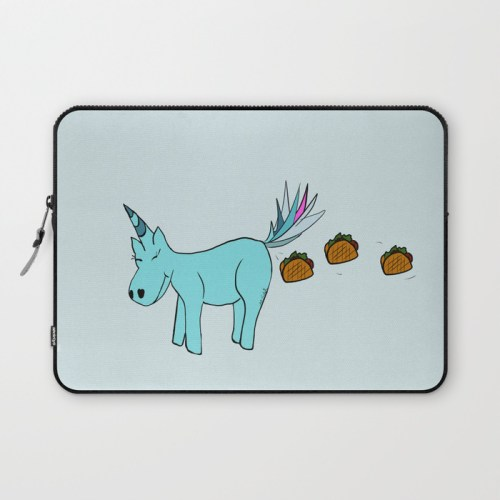 Unicorn Pooping Tacos Laptop Sleeve