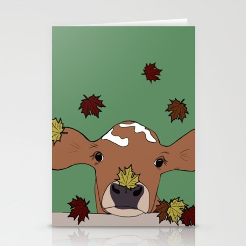 Bessie the calf Greeting Cards