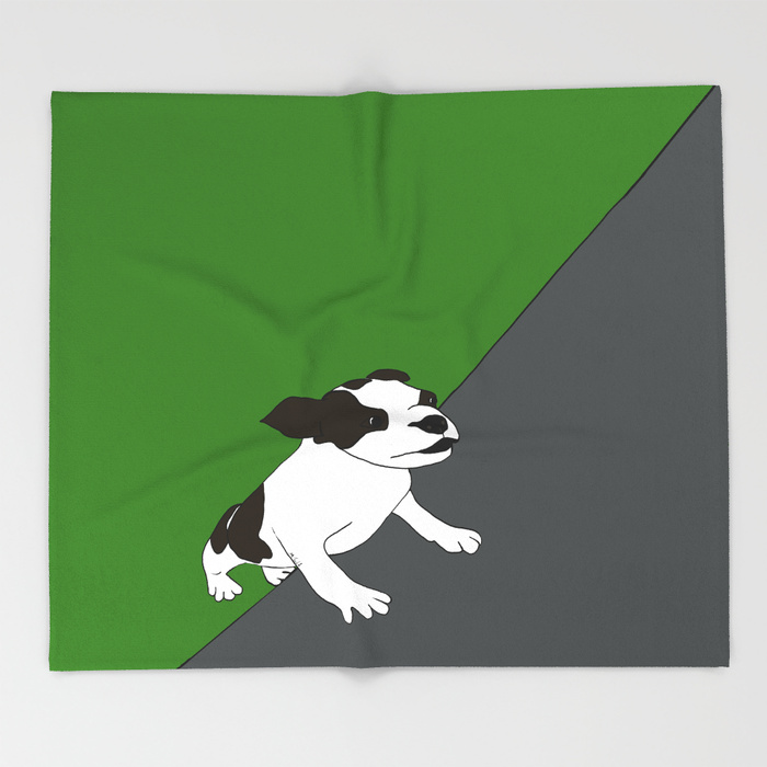 Annie The Boston Terrier Throw Blanket