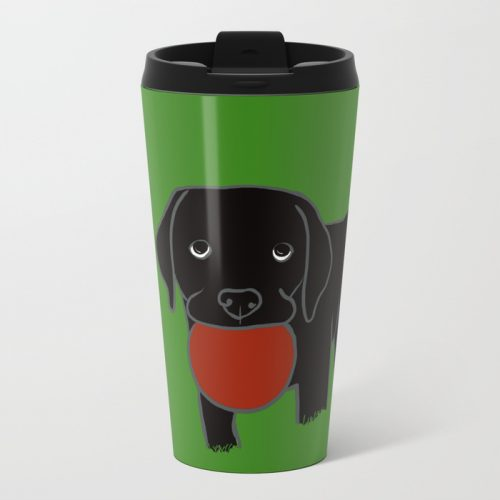 Black Lab Puppy Travel Mug