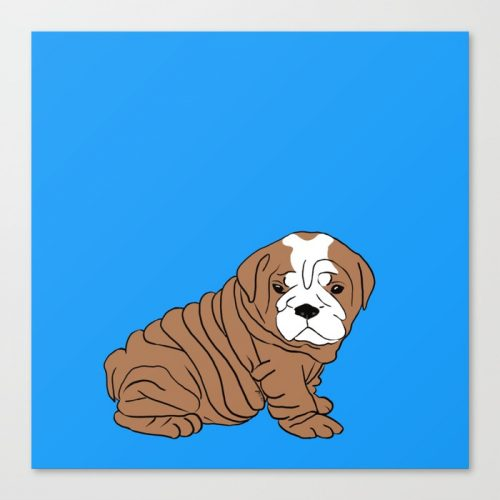 Bulldog Puppy Canvas Print by Melinda Todd