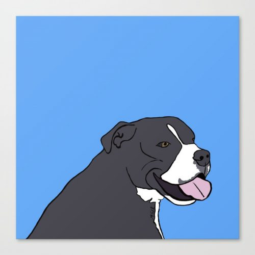Cash The True Bluenose Pit Bull Canvas Print by Melinda Todd
