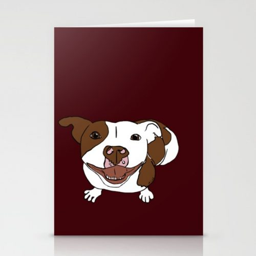Celia Mae The Pitbull Greeting Cards