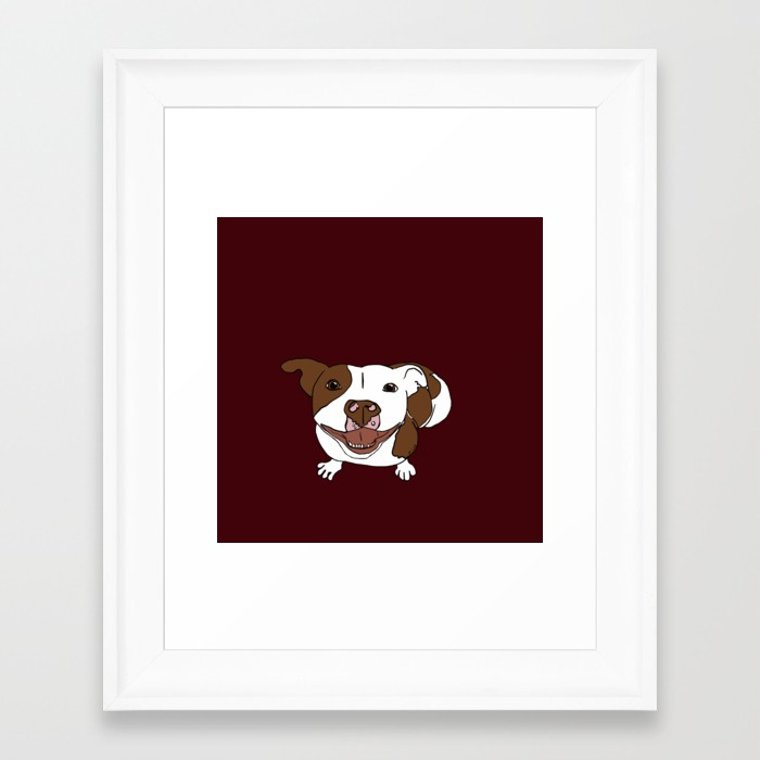 Celia Mae The Pit Bull Framed Print by Melinda Todd