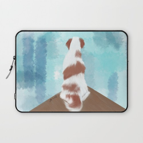 Deschutes The Brittany Spaniel Laptop Sleeve