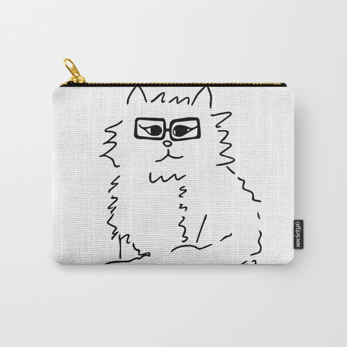 How Do You Like Meow Hipster Kitten Carry All Pouch