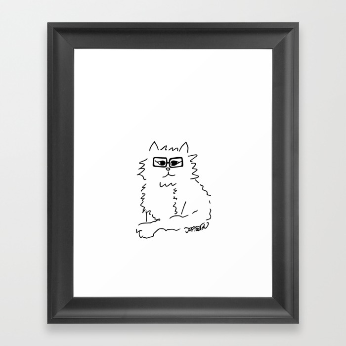 How Do You Like Meow Framed Print by Melinda Todd