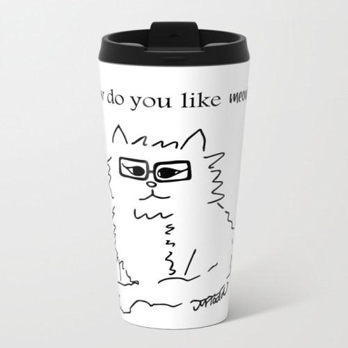 How Do You Like Meow Hipster Kitten Travel Mug