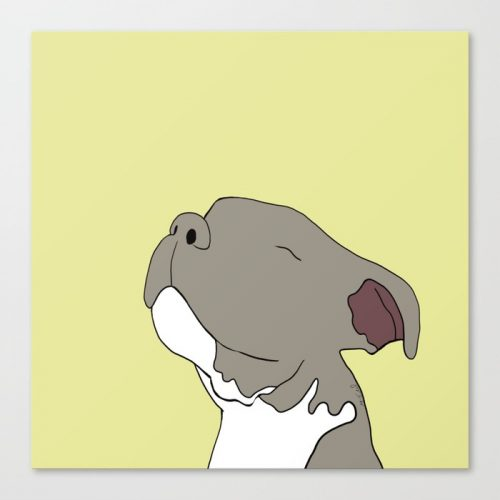 Sunny The Pitbull Puppy Canvas Print by Melinda Todd