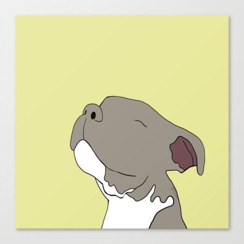 Sunny The Pitbull Puppy Canvas Print by Melinda Todd