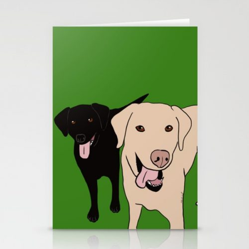 Tanner and Lily Labrador Buddies Greeting Cards